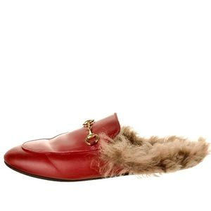 Gucci Princeton fur lined slippers size 40.5 box